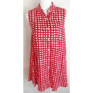 11.1 Tylho Anthropologie • Red White Check Dress